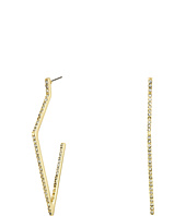 GUESS - Diamond Shape Stone Hoop Earrings