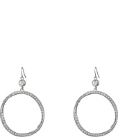 GUESS - Stone Hoop on Wire Earrings