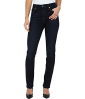 7 For All Mankind - High Waist Vintage Straight in Slim Illusion Dark Madrid Night