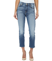 7 For All Mankind - Cropped High Waist Vintage Straight in Ibiza Island Indigo