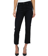 7 For All Mankind - Cropped High Waist Vintage Straight w/ Raw Hem in Slim Illusion Rich Noir