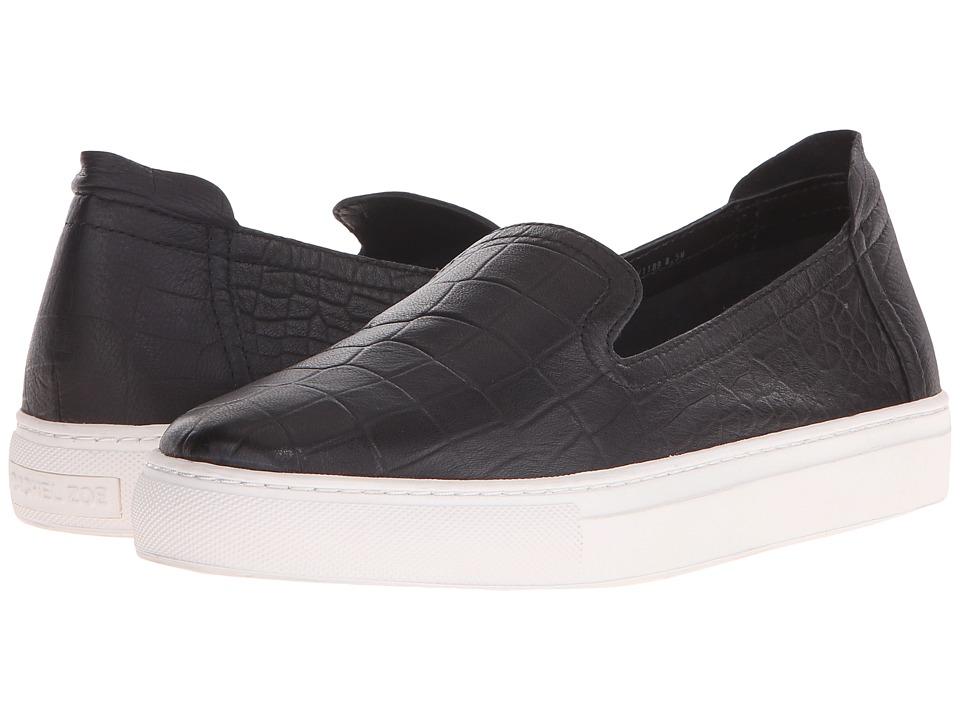 Rachel Zoe Burke Black Nappa Croc Emboss Womens Slip on Shoes