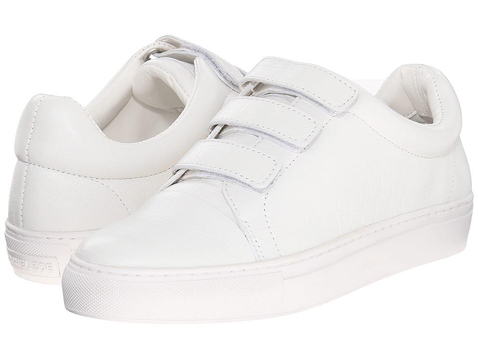 Rachel Zoe Boe White Nappa Croc Emboss Womens Hook and Loop Shoes