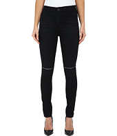 7 For All Mankind - The High Waist Skinny w/ Knee Slashes in Slim Illusion Rich Noir 2