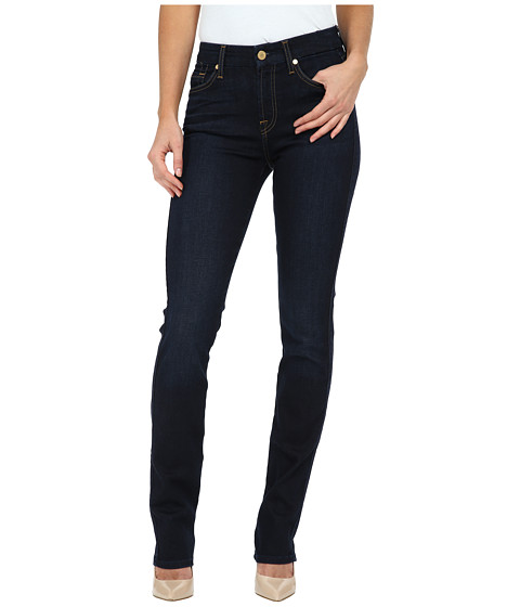7 For All Mankind Kimmie Straight in Slim Illusion Dark Madrid Night