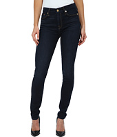 7 For All Mankind - The Mid Rise Skinny w/ Tonal Squiggle in Slim Illusion Dark Madrid Night