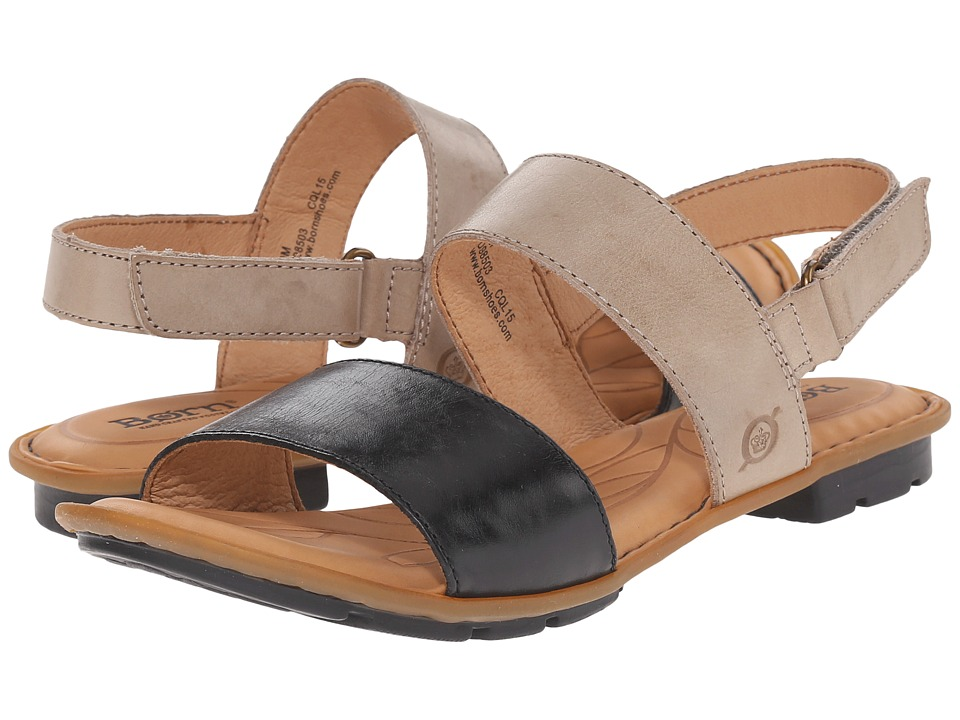 Born Wendy Black/Bath Full Grain Leather Womens Sandals