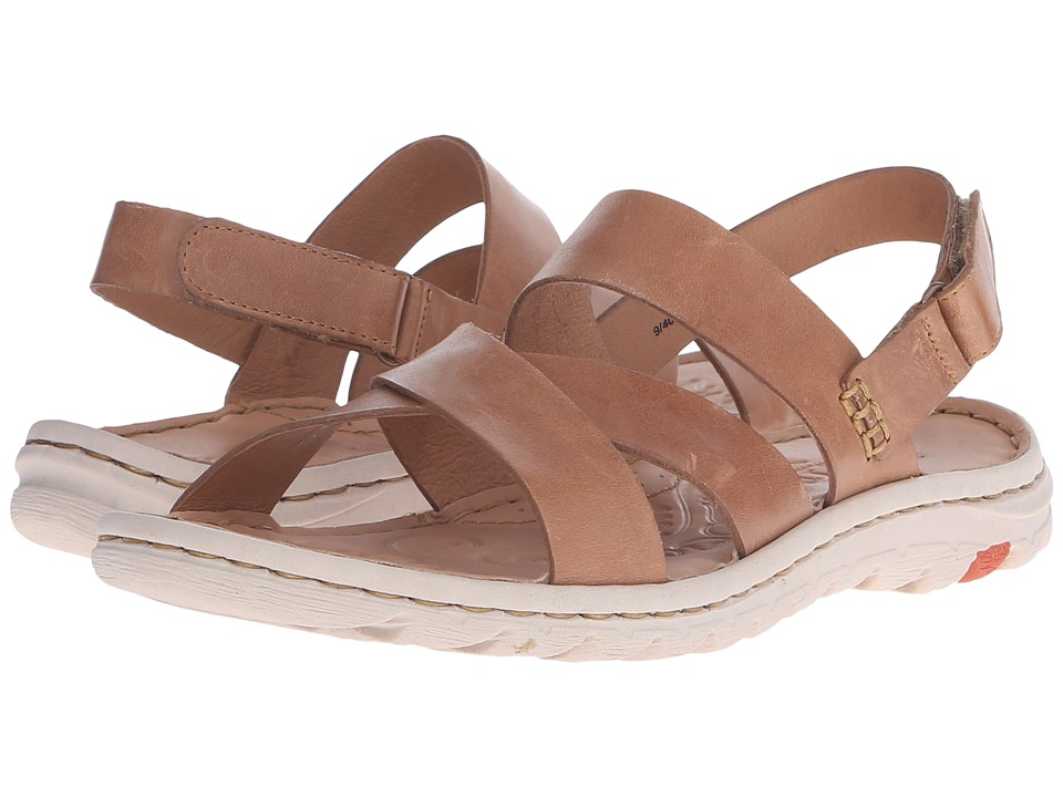 Born Estes Tan Full Grain Leather Womens Sandals