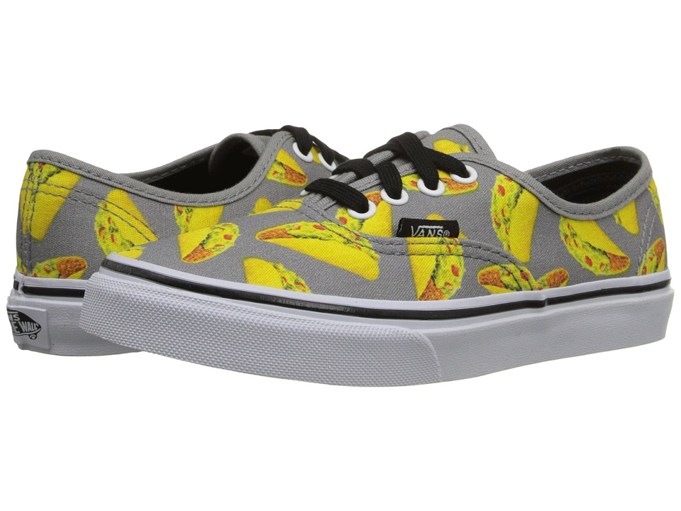 Vans Kids Authentic Little Kid/Big Kid Late Night Frost Gray/Tacos Boys Shoes