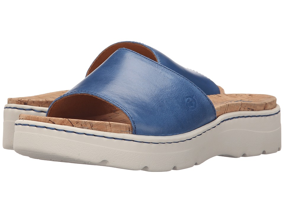 Born - Benitez (Sea Blue Full Grain Leather) Womens Sandals