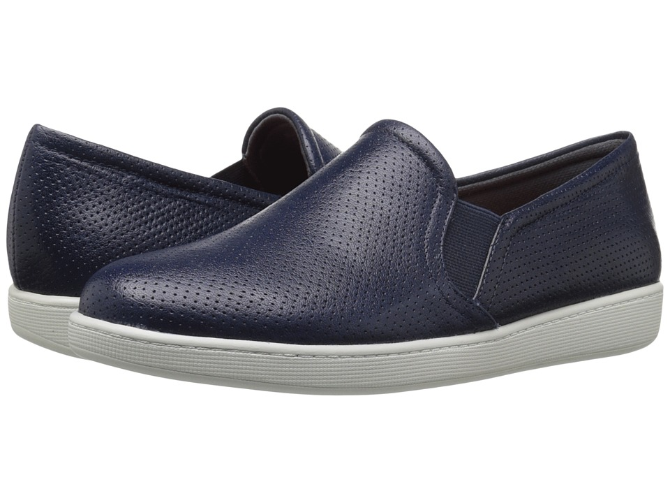Trotters Americana Navy Soft Leather Womens Slip on Shoes