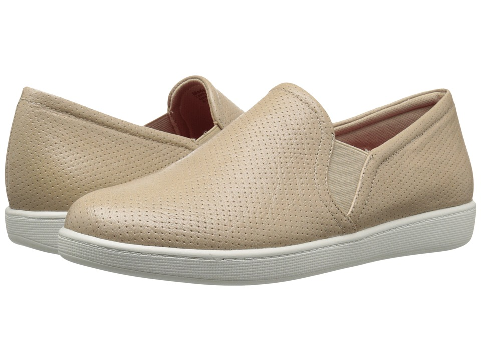 Trotters Americana Nude Soft Leather Womens Slip on Shoes