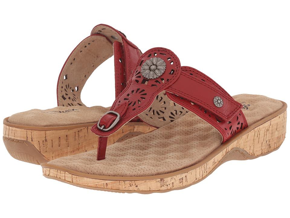 SoftWalk Beaumont Laser Red Womens Sandals