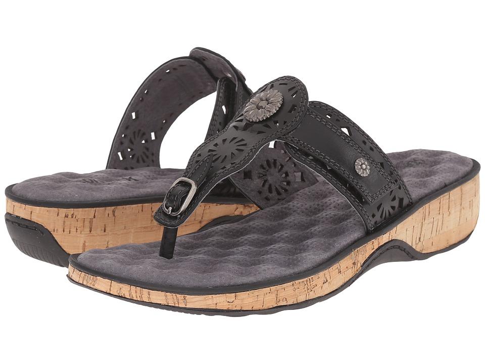 SoftWalk Beaumont Laser Black Womens Sandals