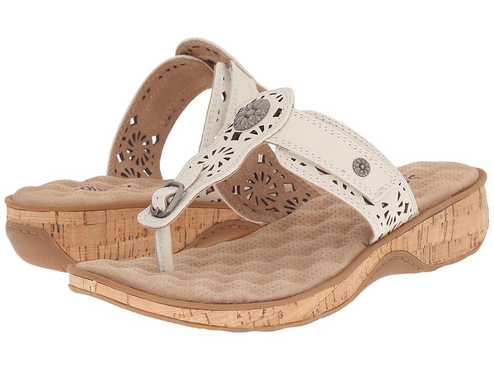 SoftWalk Beaumont Laser Off White Womens Sandals
