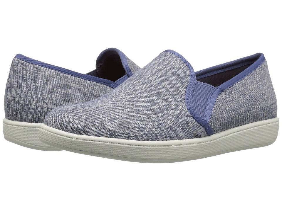 Trotters Americana Blue Canvas Womens Slip on Shoes