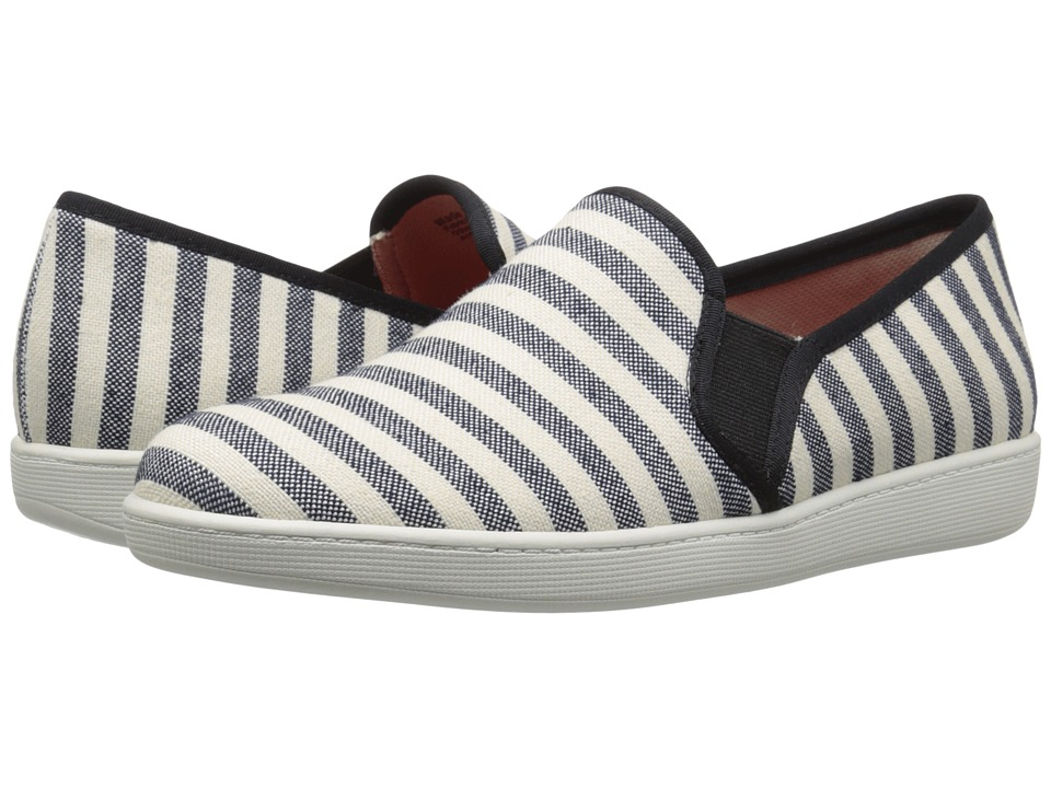 Trotters - Americana (Black/Cream Striped Canvas) Women