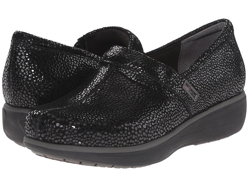SoftWalk Meredith Black Mosiac Leather Womens Slip on Shoes