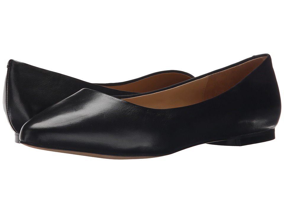 Trotters Estee Black Soft Nappa Leather Womens Slip on Dress Shoes