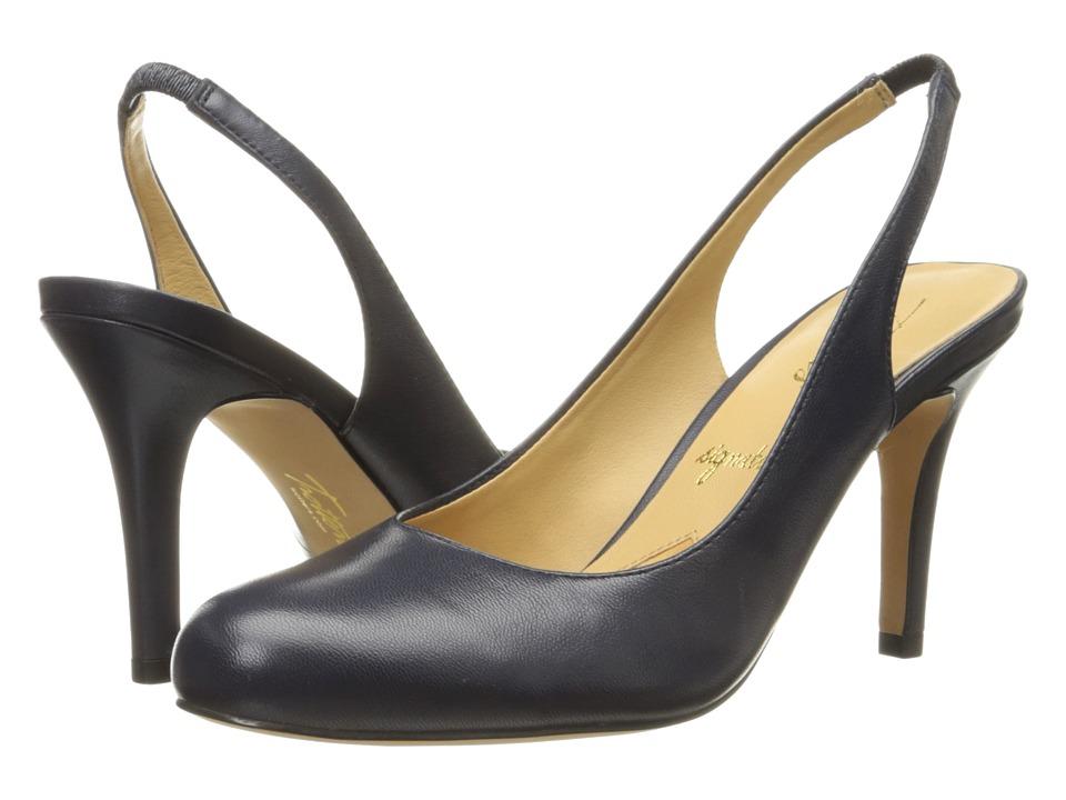 Trotters - Gidget (Navy Glazed Kid Leather) High Heels