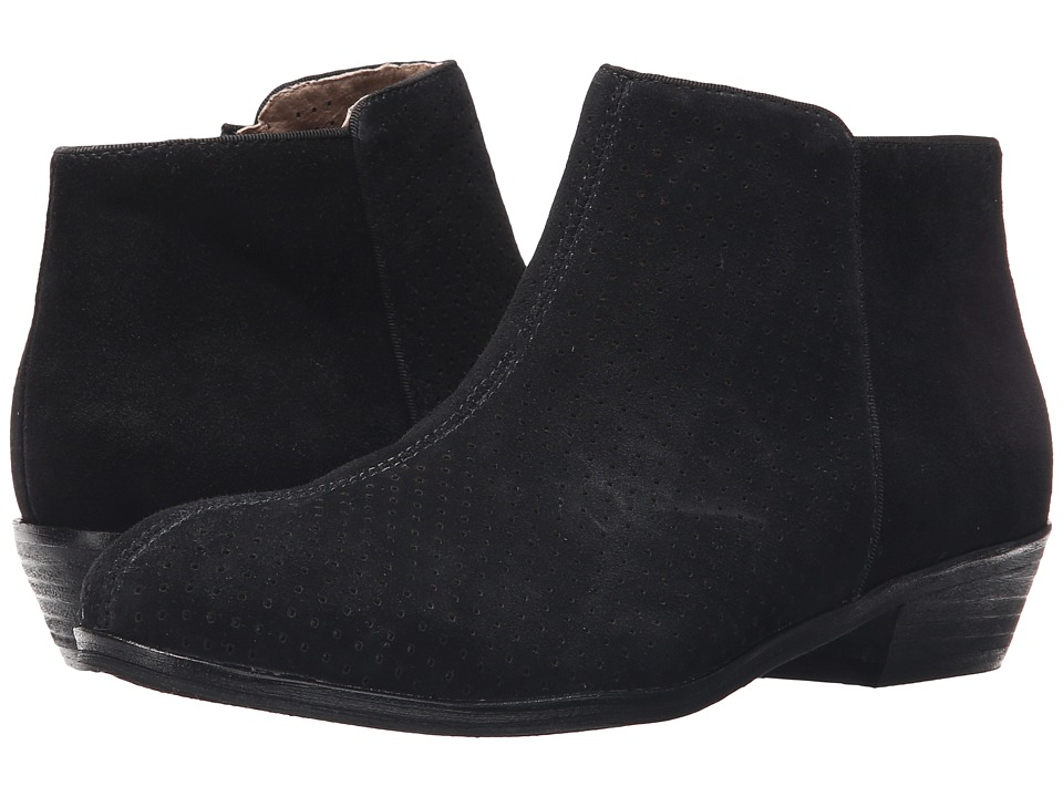 SoftWalk Rocklin Black Perf Suede Womens Shoes
