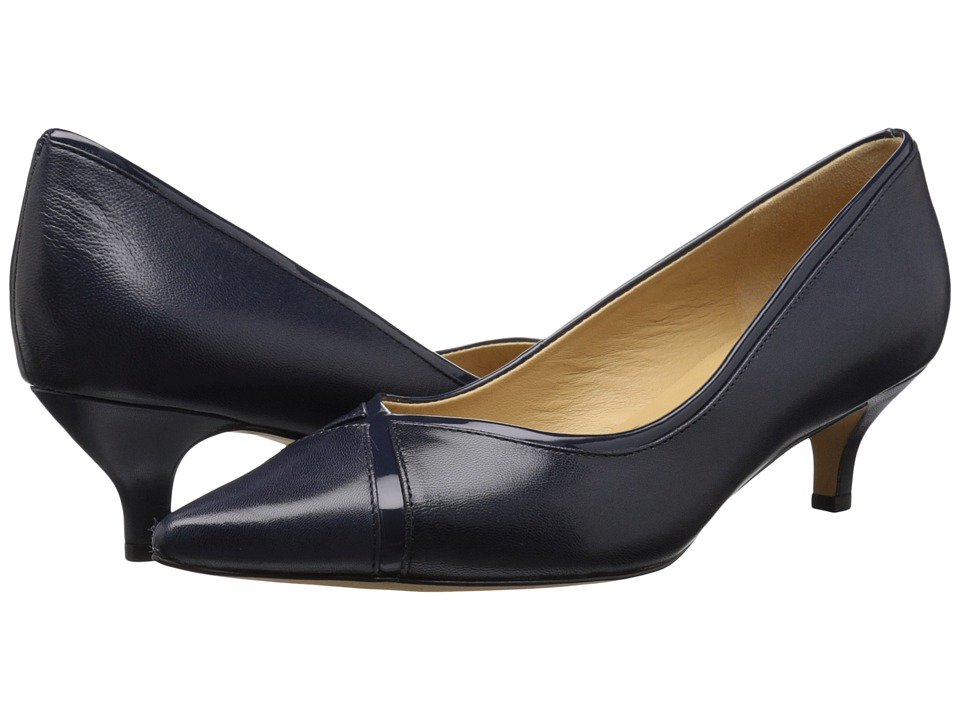 Trotters - Kelsey (Navy Glazed Kid Leather/Patent Man Made) Women