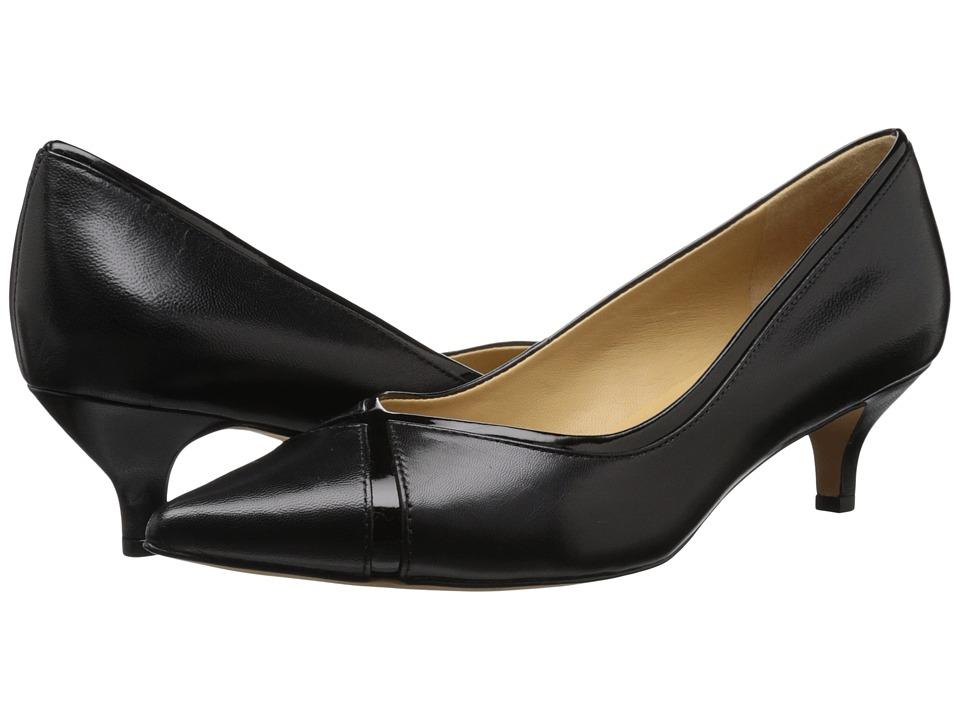Trotters - Kelsey (Black Glazed Kid Leather/Patent Man Made) Women