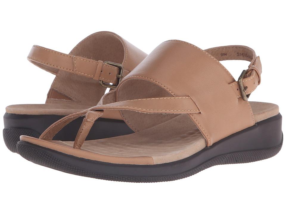 SoftWalk Teller Tan Soft Nappa Leather Womens Sandals