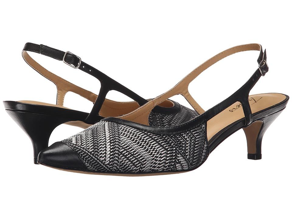 Trotters - Kimberly (Black White Multi/Black Multi Weave Textile/Burnished Vegetable) Women