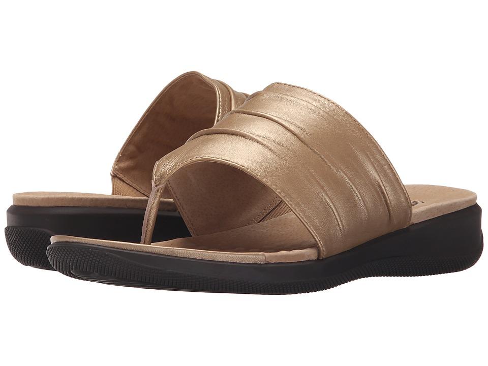 SoftWalk Toma Goldwash Soft Nappa Leather Womens Sandals