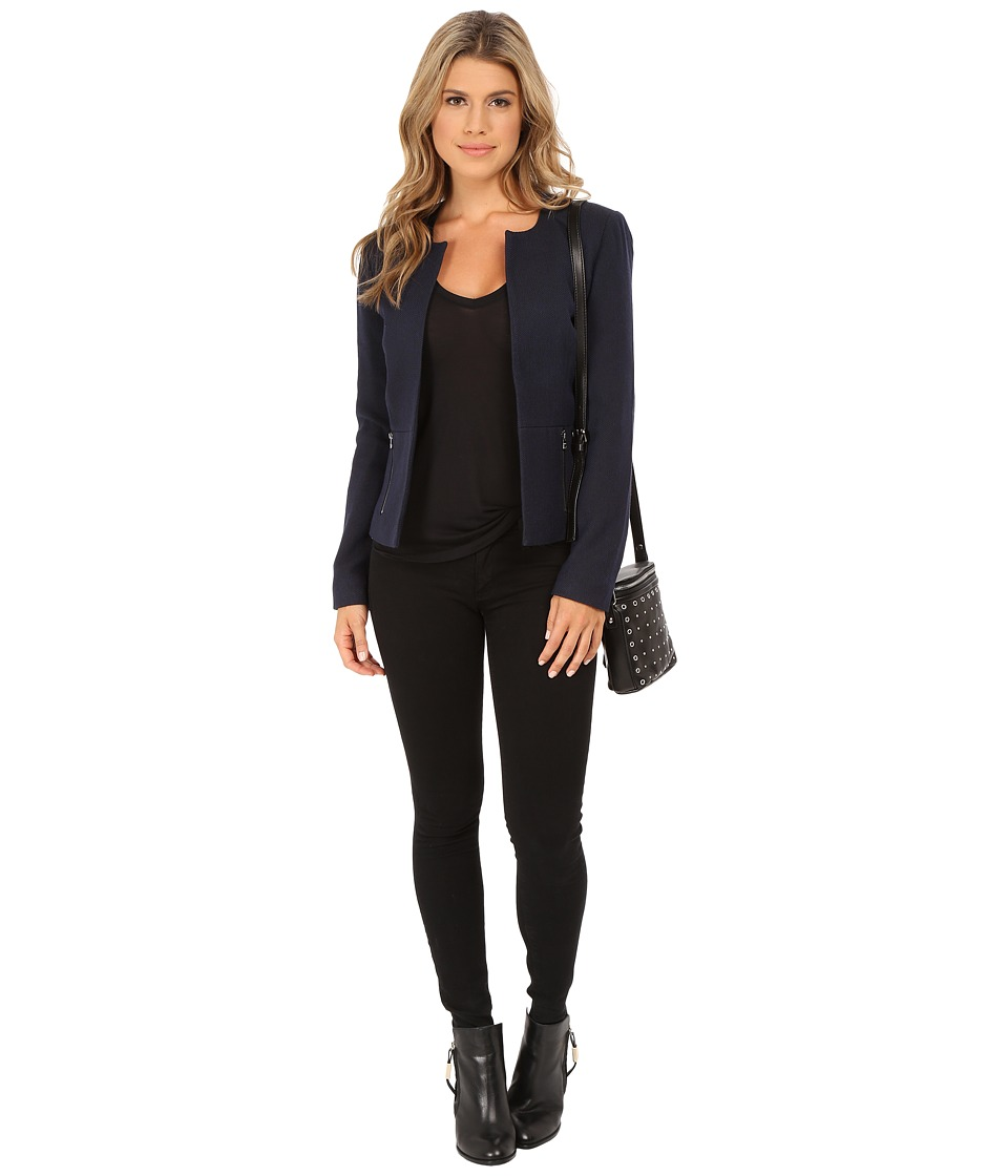 ONLY Kim Melange Blazer Peacoat Womens Jacket