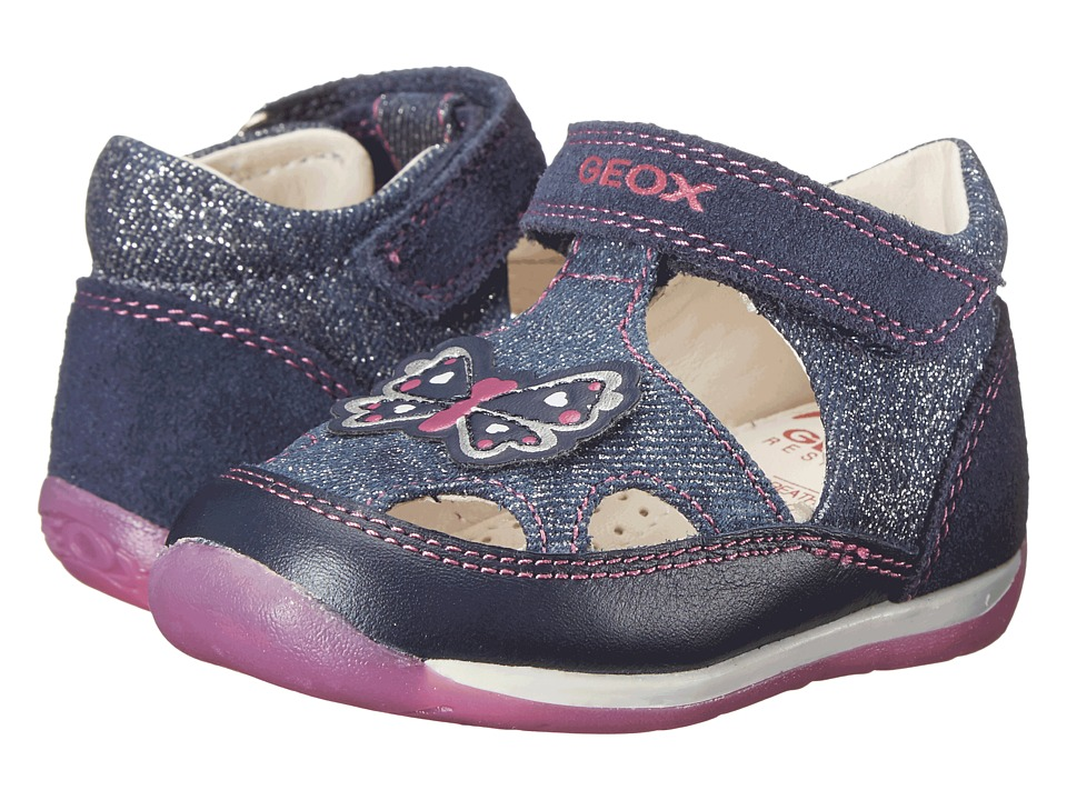 Geox Kids Baby Each Girl 6 Infant/Toddler Navy/Fuchsia Girls Shoes