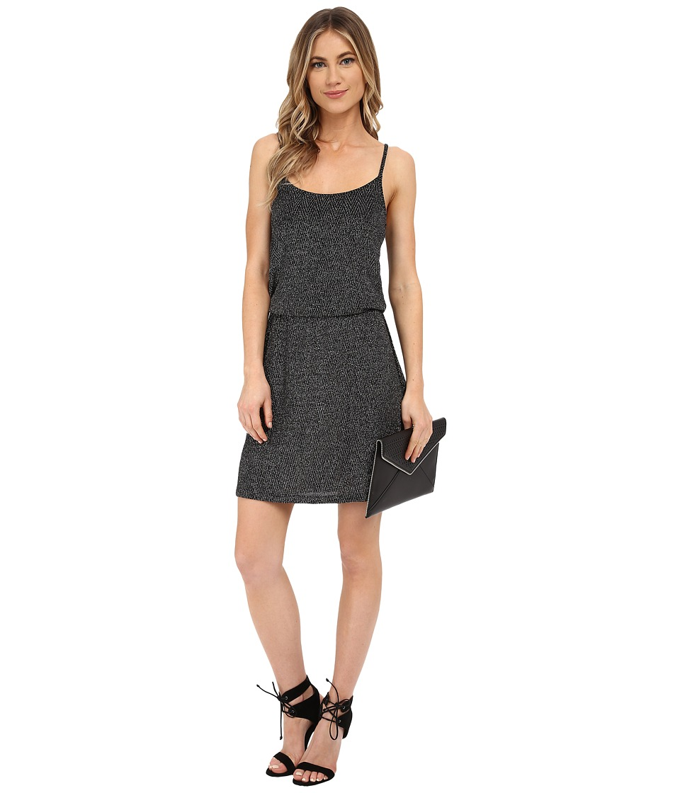 ONLY Carla Party Dress Black w/ Silver Lurex Womens Dress