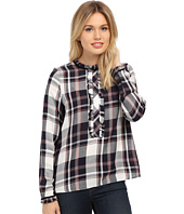 ONLY - Inez Plaid Frill Shirt