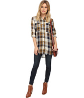 ONLY - Inez Plaid Loose-Fitting Long Shirt