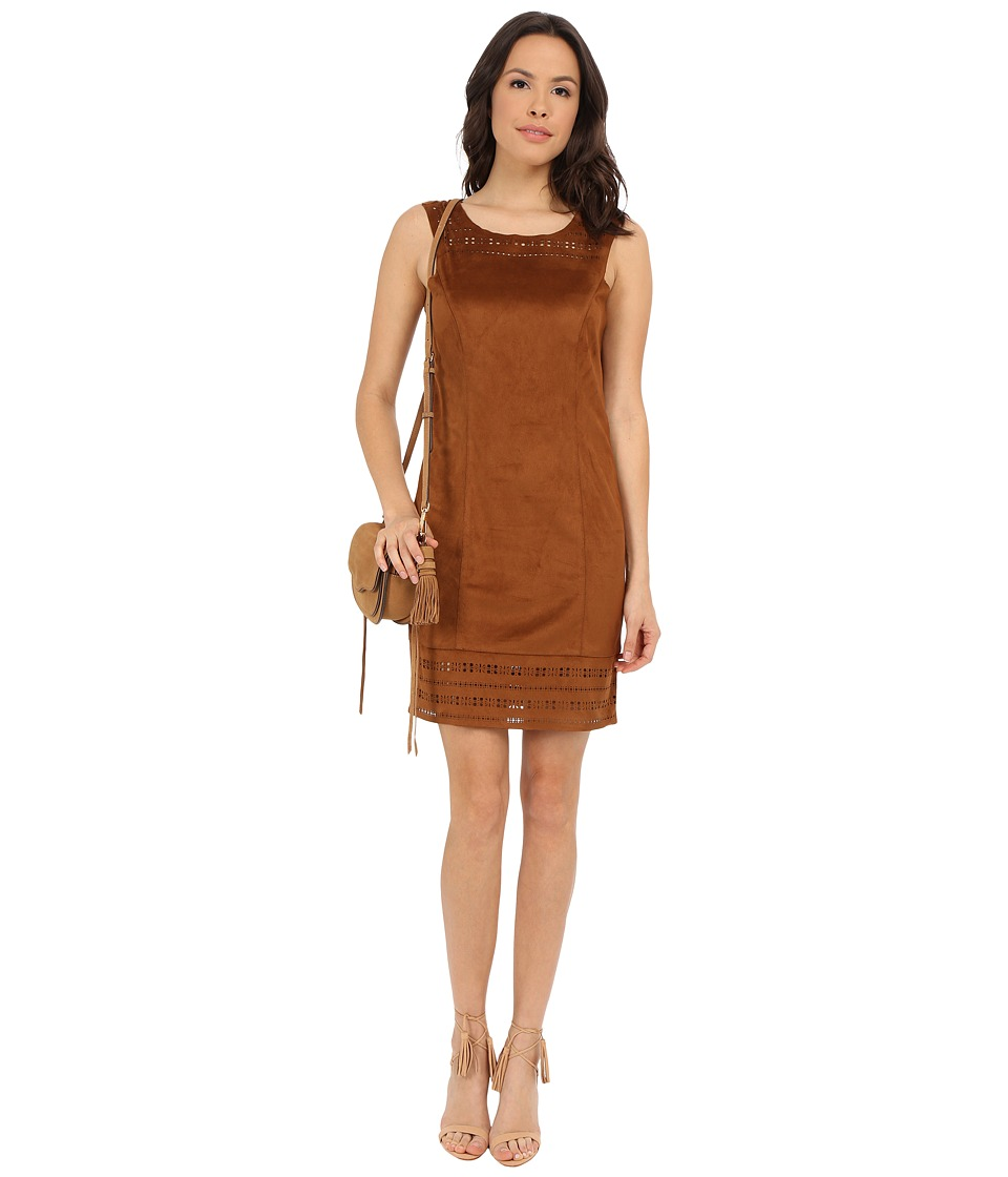 ONLY Adora Faux Suede Dress Cognac Womens Dress