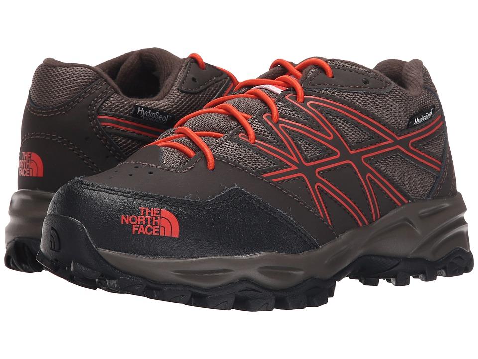 The North Face Kids - Jr Hedgehog Hiker WP(Little Kid/Big Kid) (Coffee Brown/Valencia Orange) Boys Shoes