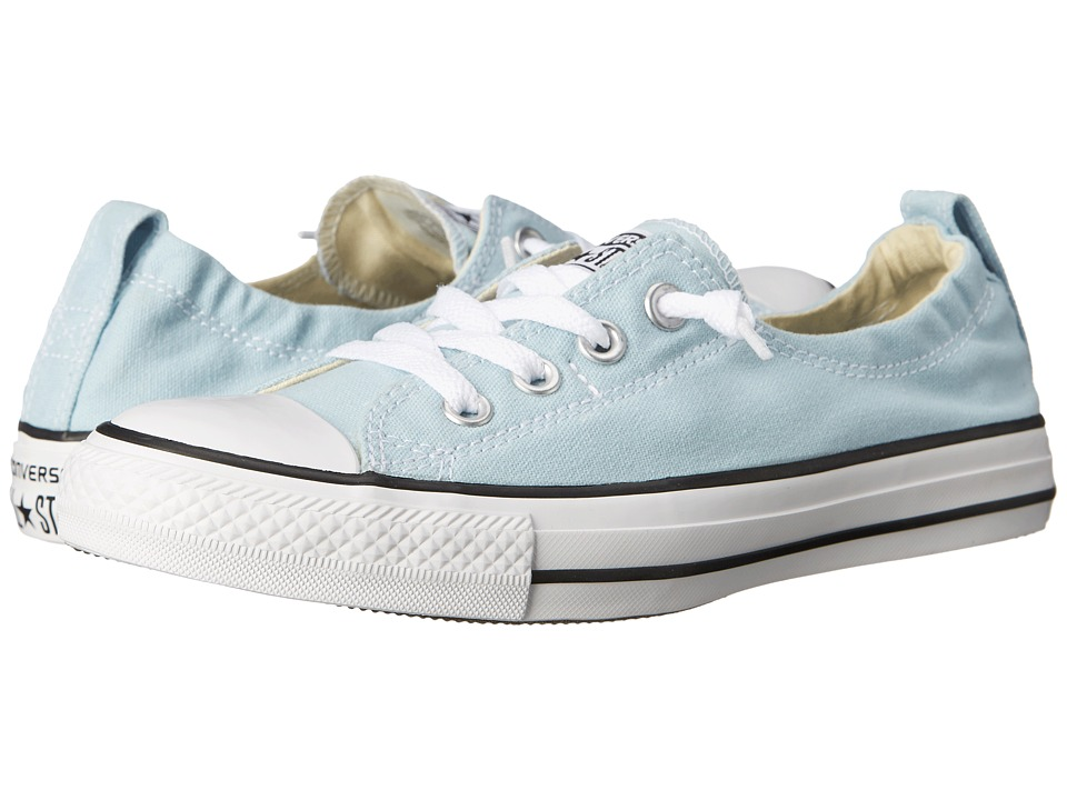 Converse Chuck Taylor All Star Fashion Basics Shoreline Ambient Blue/Black/White Womens Lace up casual Shoes