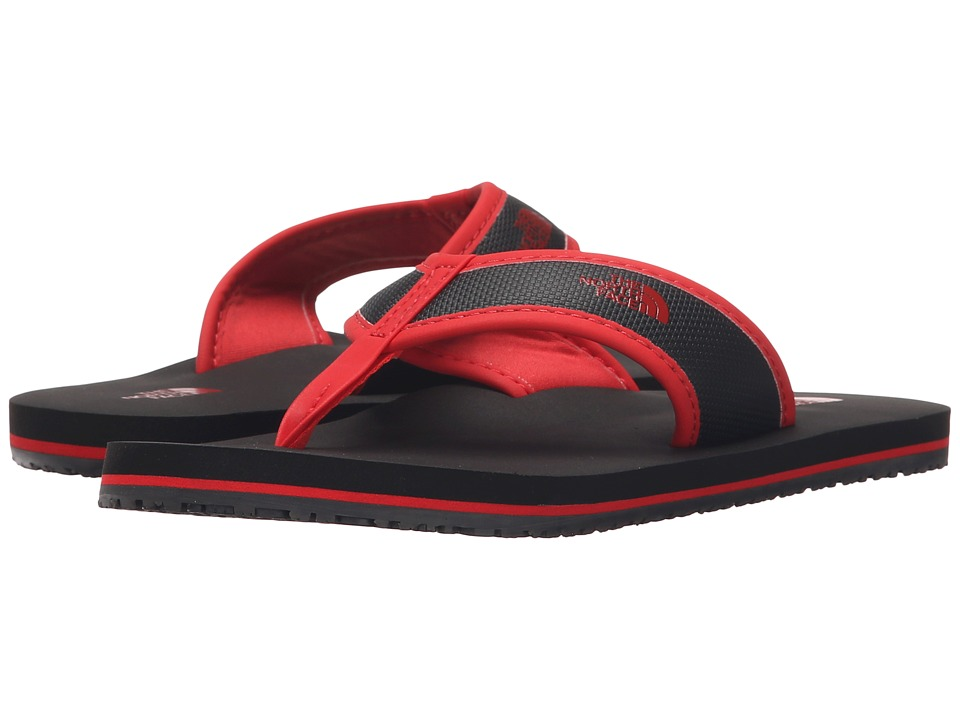The North Face Kids - Base Camp Flip-Flop (Toddler/Little Kid/Big Kid) (Phantom Grey/Fiery Red) Boys Shoes