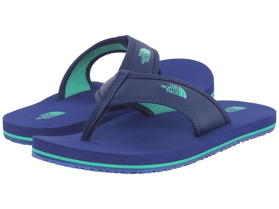 The North Face Kids Base Camp Flip FlopToddler/Little Kid/Big Kid Marker Blue/Blarney Green Boys Shoes