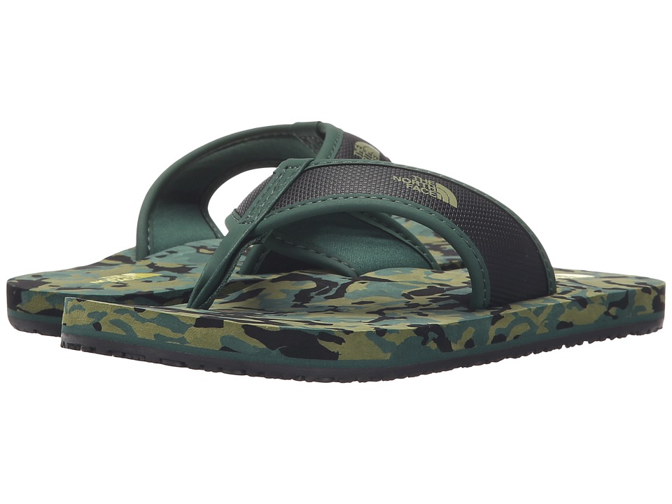The North Face Kids - Base Camp Flip-Flop(Toddler/Little Kid/Big Kid) (Dark Green/TNF Black) Boys Shoes