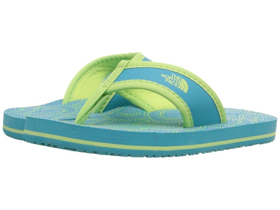 The North Face Kids Base Camp Flip Flop Toddler/Little Kid/Big Kid Bluebird/Budding Green Girls Shoes