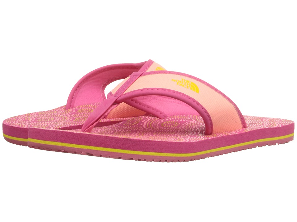 The North Face Kids Base Camp Flip Flop Toddler/Little Kid/Big Kid Cha Cha Pink/Blazing Yellow Girls Shoes