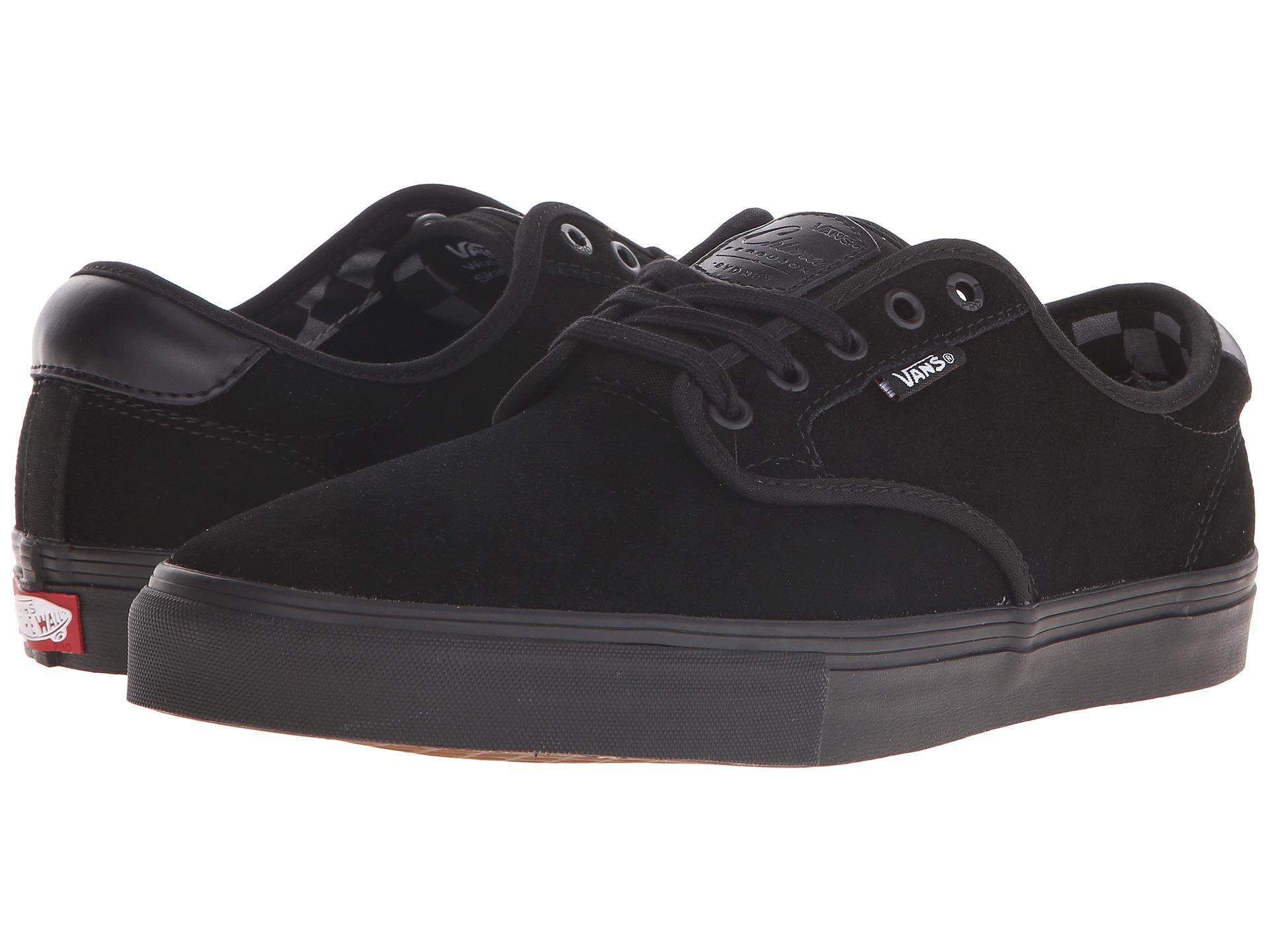 vans all black leather