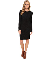 Three Dots - Ponte Long Sleeve Seamed Dress