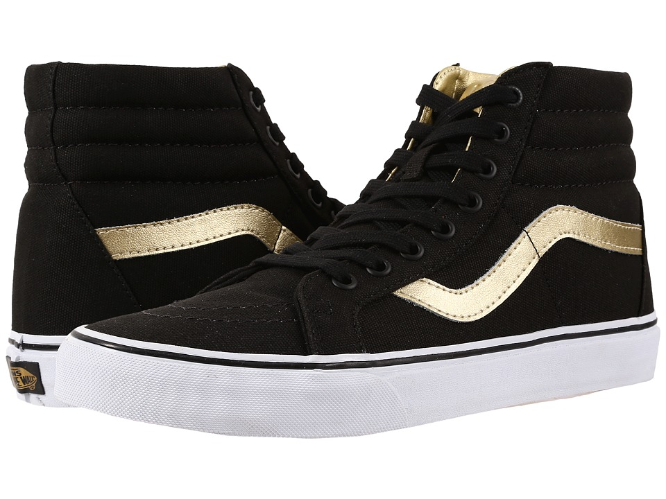 Vans SK8 Hi Reissue 50th Black/Gold Skate Shoes