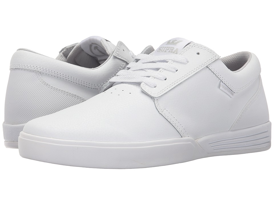 Supra Hammer White/White Mens Skate Shoes