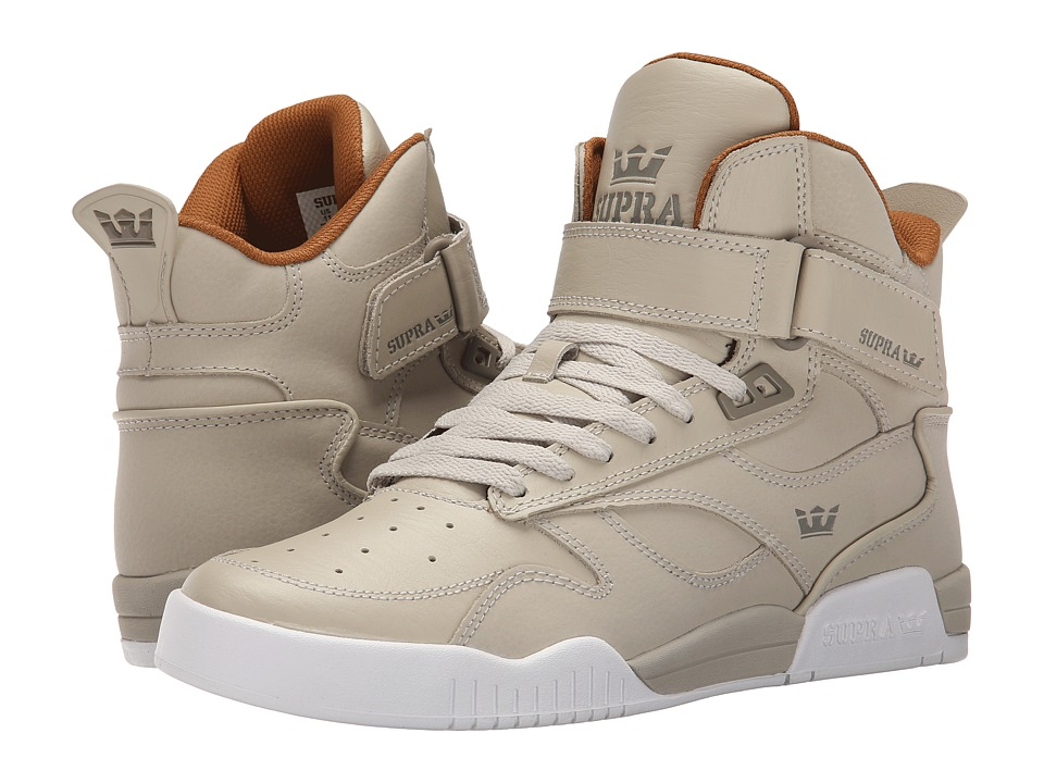 Supra Bleeker Tan/Khaki/White Mens Skate Shoes