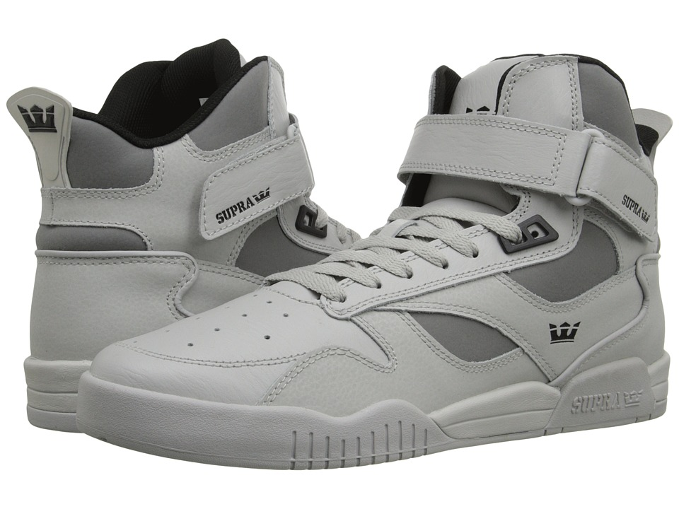 Supra Bleeker Light Grey/Black/Light Grey Mens Skate Shoes
