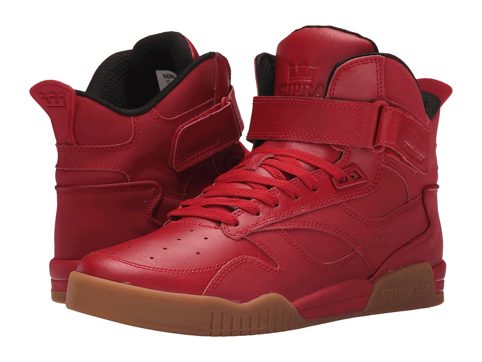 Supra Bleeker Red/Gum Mens Skate Shoes
